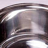 Каструля Kamille 3.9 л з нержавіючої сталі з кришкою і ручками порожнистими, фото 8