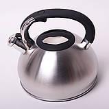 Чайник Kamille 3л из нержавеющей стали со свистком, фото 8