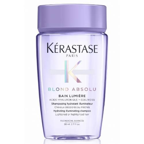 Шампунь-ванна для  сияния осветленных или мелированных волос-Kerastase Blond Absolu Bain Lumiere 80 мл