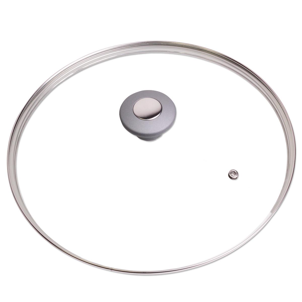 Крышка стеклянная Kamille 28см с металлическим ободком