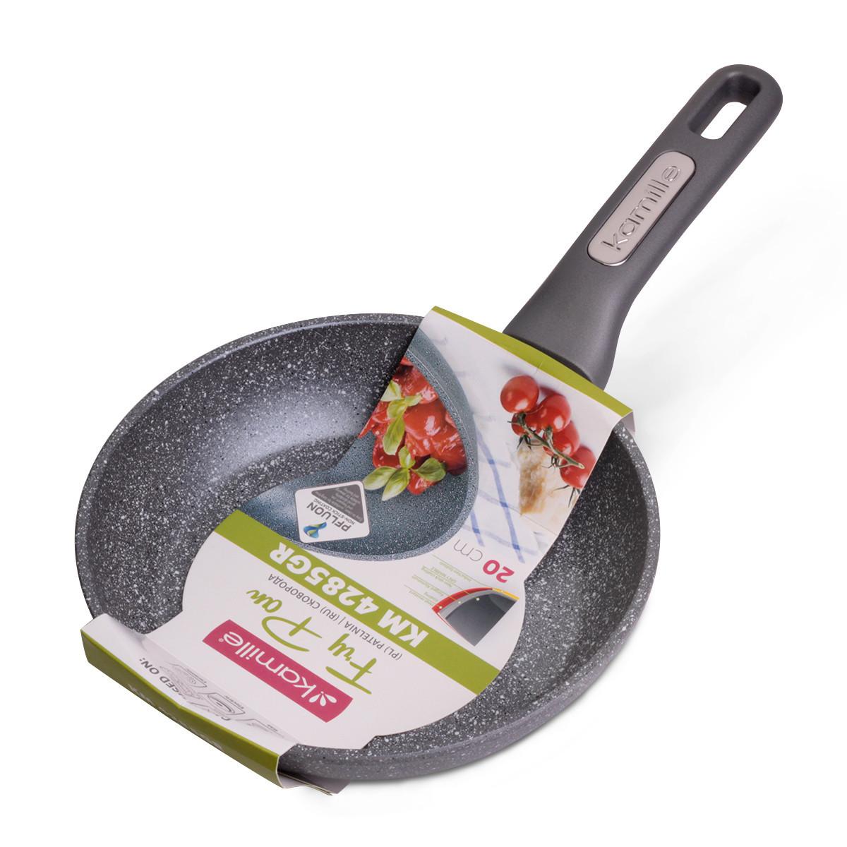 Сковорода Kamille 20см с гранитным покрытием из алюминия