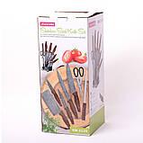 Набор кухонных ножей и ножницы на акриловой подставке 8 предметов (5 ножей+ножицы+точилка+подставка), фото 4