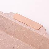 Форма для запекания 46*30*6см из углеродистой стали (серый и бежевый мрамор), фото 5