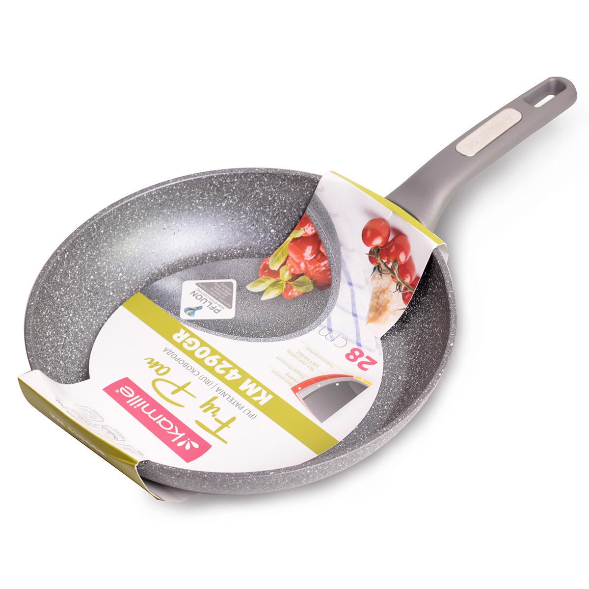 Сковорода Kamille 28см с гранитным покрытием из алюминия