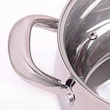 Набор посуды 10 предметов (2.1л, 2.9л, 4.1л, 6.7л, ковш 2.1л) из нержавеющей стали, фото 3