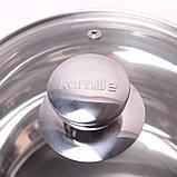 Набор посуды 10 предметов (2.1л, 2.9л, 4.1л, 6.7л, ковш 2.1л) из нержавеющей стали, фото 6