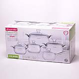 Набор посуды 10 предметов (2.1л, 2.9л, 4.1л, 6.7л, ковш 2.1л) из нержавеющей стали, фото 7