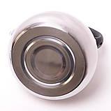 Чайник 3л из нержавеющей стали со свистком и черной бакелитовой ручкой, фото 7