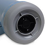 Термос 1000мл пластиковый со стеклянной колбой (2 чашки; синий, голубой, зелёный), фото 5