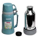 Термос 1800мл пластиковий зі скляною колбою (синій, блакитний, зелений), фото 9