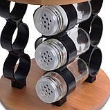 Набор ёмкостей для специй на деревянной подставке, фото 5