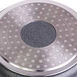 """Каструля Kamille 2,3 л з литого алюмінію з антипригарним покриттям """"граніт"""" і скляною кришкою, фото 8"""