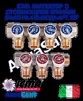 ICMA Коллектор с отсекающими кранами 3/4х1/2 на 4 выхода Арт. 227