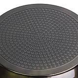 Сотейник Ø28см с антипригарным покрытием Black marble из алюминия с крышкой, фото 9