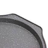 Форма для запекания пиццы  Kamille Ø29*2см из углеродистой стали, фото 3