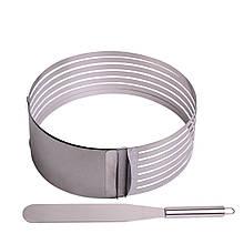 Форма для бисквита Kamille регулируемая 15-22 см с отверстием для нарезки и ножом