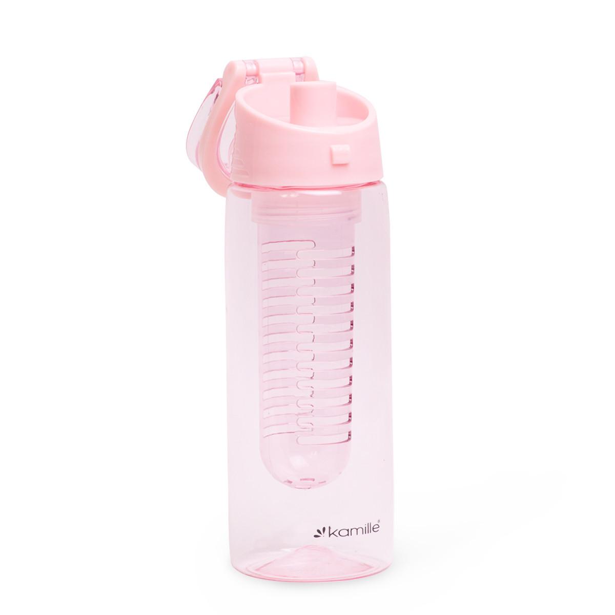 Спортивна пляшка для води Kamille 660ml з пластику (тритан) (зелений, чорний, рожевий, блакитний)