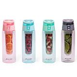 Спортивна пляшка для води Kamille 660ml з пластику (тритан) (зелений, чорний, рожевий, блакитний), фото 9