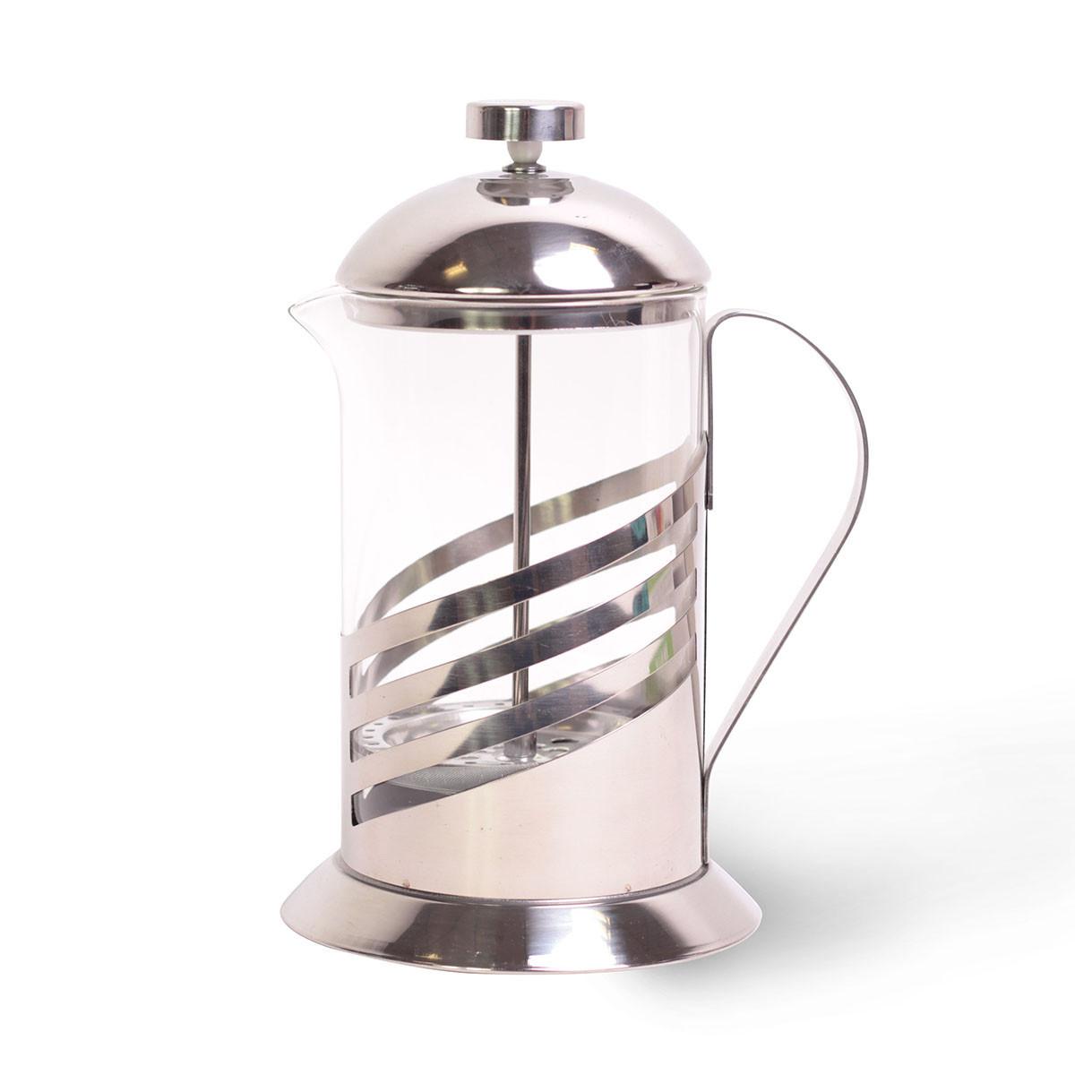 Френчпресс Kamille 800мл (нержавеющая сталь, стекло)