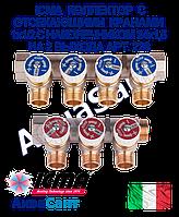 ICMA Колектор з відсікають кранами 1х1/2 з наконечником 24х1,5 на 2 виходи Арт. 228