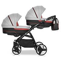 Детская универсальная коляска для двойни Riko Team Duo 01