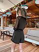 Летний нарядный шифоновый комбинезон в горошек, фото 4