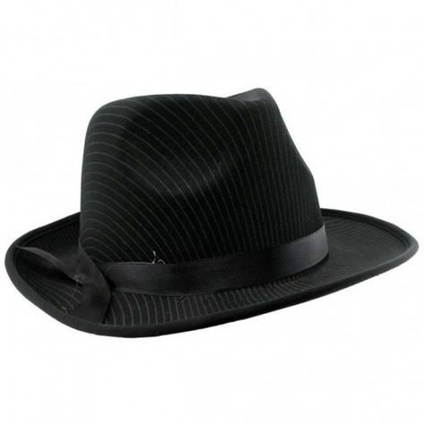 Шляпа мужская Мафия черная , фото 2