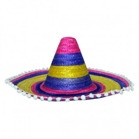 Шляпа Сомбреро 50 см цветная, фото 2