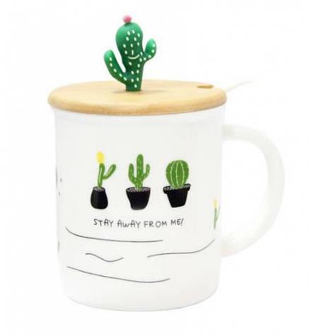 Керамическая чашка Кактусики, фото 2