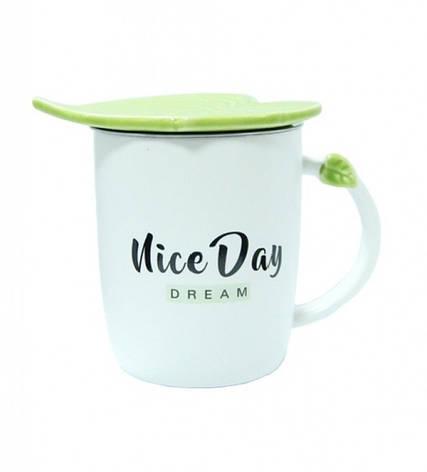 Чашка керамическая Зеленый Листок Niсe Day Dream, фото 2