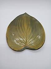 Керамічна Тарілка у вигляді листа
