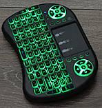 Бездротова клавіатура ПІДСВІЧУВАННЯ Rii mini i8, миша/пульт для Смарт TV, Клавіатура, тачпад Android оригінал, фото 3