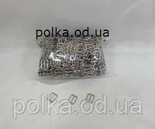 Регуляторы 1см серебряные для бюстгалтеров,  металл(1уп-1000шт), цвет золото,черный,серебро.