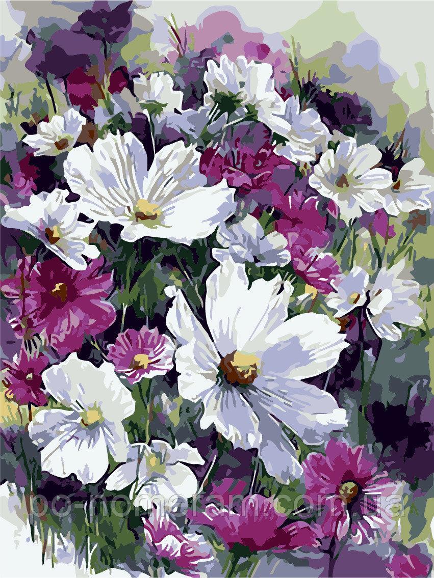 Картина за номерами Лілові квіти 40 х 50 см (AS0241)
