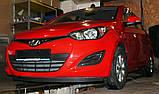 Декоративно-захисна сітка радіатора Hyundai i20 бампер, фото 4