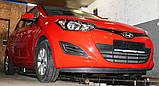 Декоративно-захисна сітка радіатора Hyundai i20 бампер, фото 5