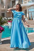 Женский летний сарафан №01179 (р.50-54) голубой, фото 1