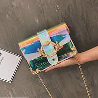 Женская прозрачная сумка JingPin серая