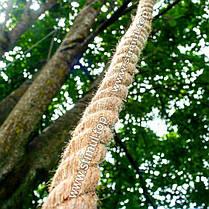 Канат джутовый 12 мм х 50 м | Веревка джутовая для декора ➤ Бечевка ➤ Пенька | Мотузка джутова Україна, фото 3