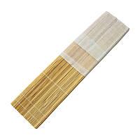 Пенал для пензлів D. K. Art&Craft 33х33см бамбук нат.колір+тканина 6926586611253