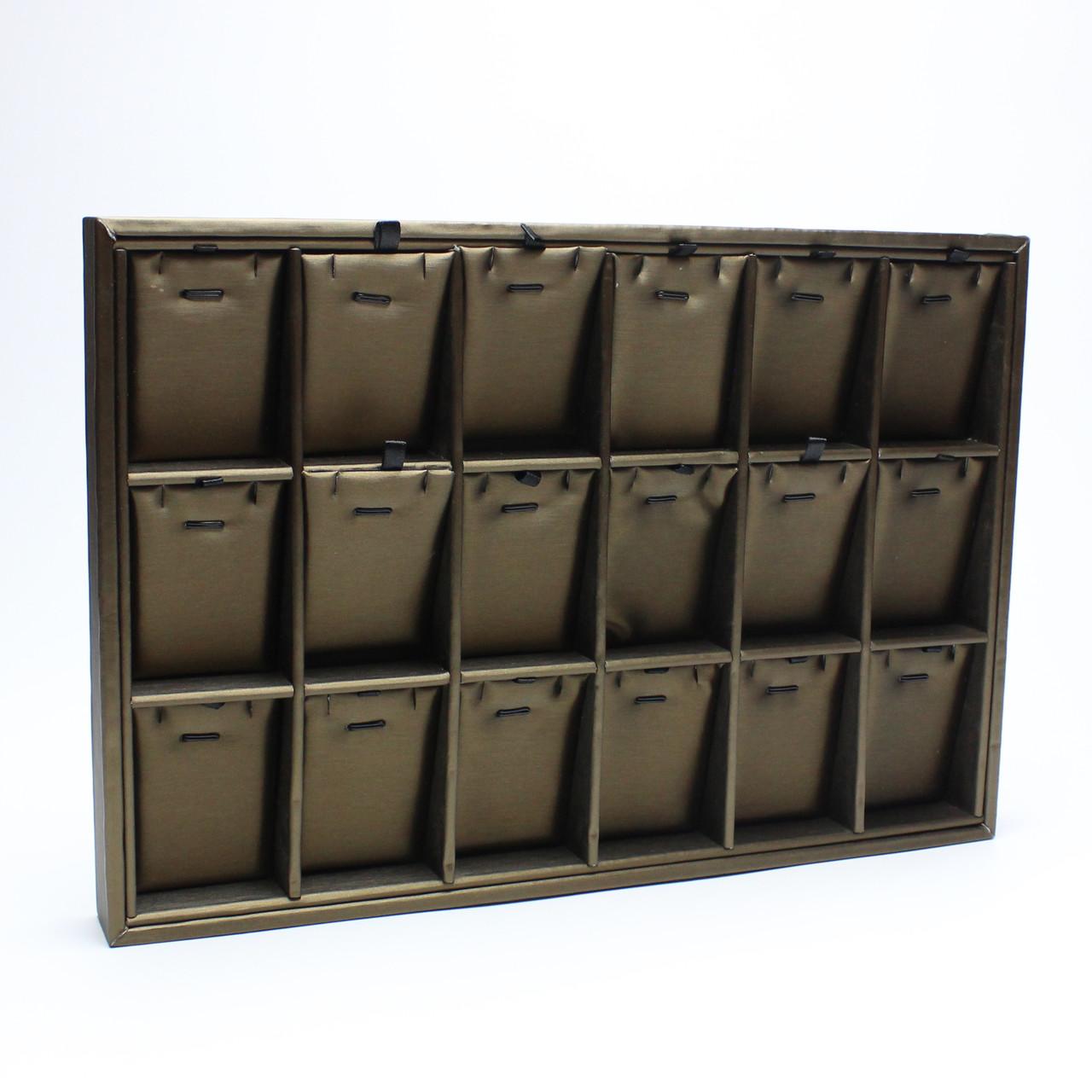 Планшет 18 ячеек под набор Exclusive коричневый