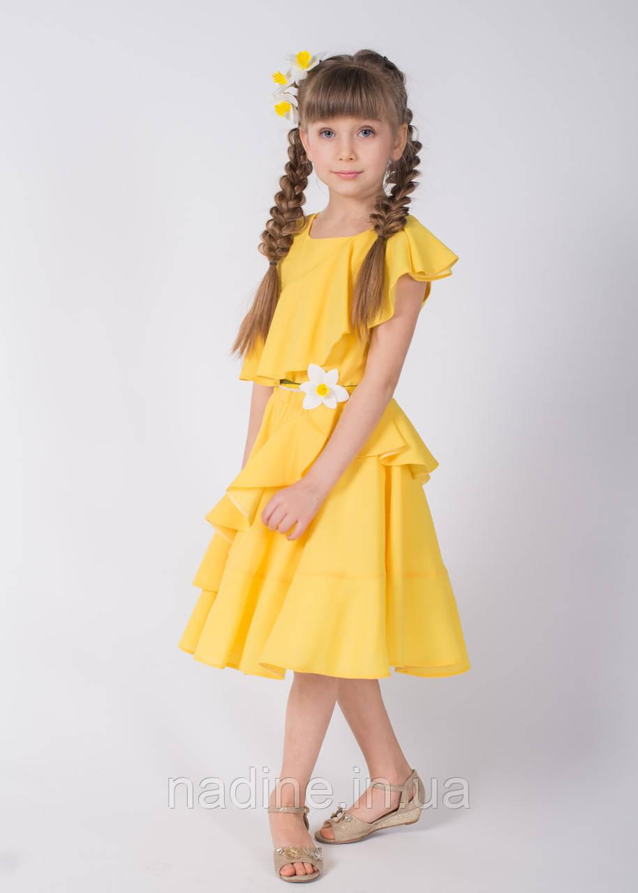 Платье Yellow Narcissus Eirena Nadine (133-34) рост 134 Жёлтое