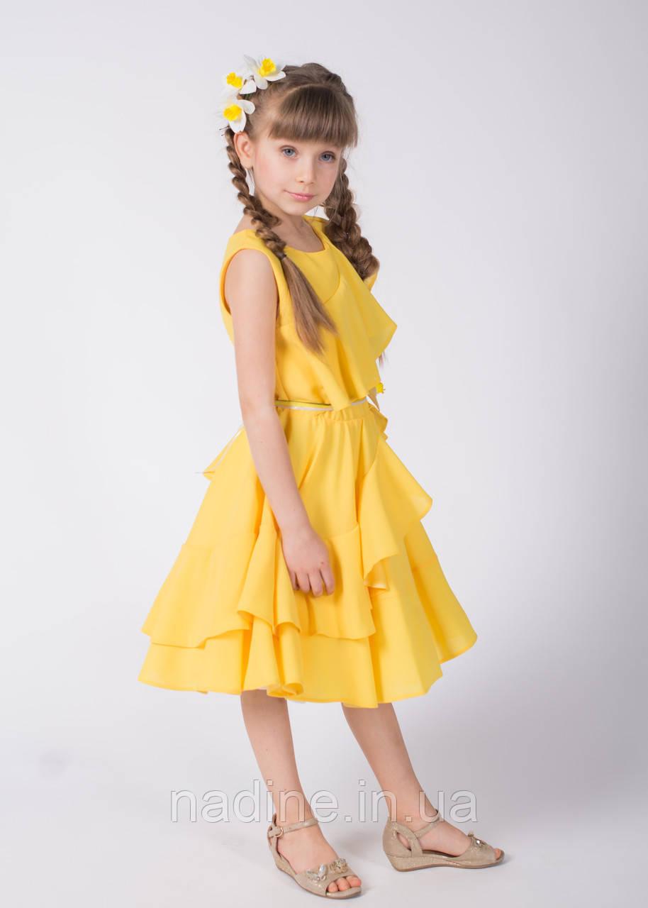 Дизайнерское Платье Nadine, Yellow Narcissus рост 152 Жёлтое