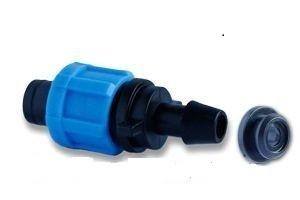 Фитинг стартер ПЭ 12 мм (с резинкой), фитинг стартовый капельная фурнитура, капельное орошение