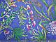 Шифон бархатистый ананасы, синий, фото 2