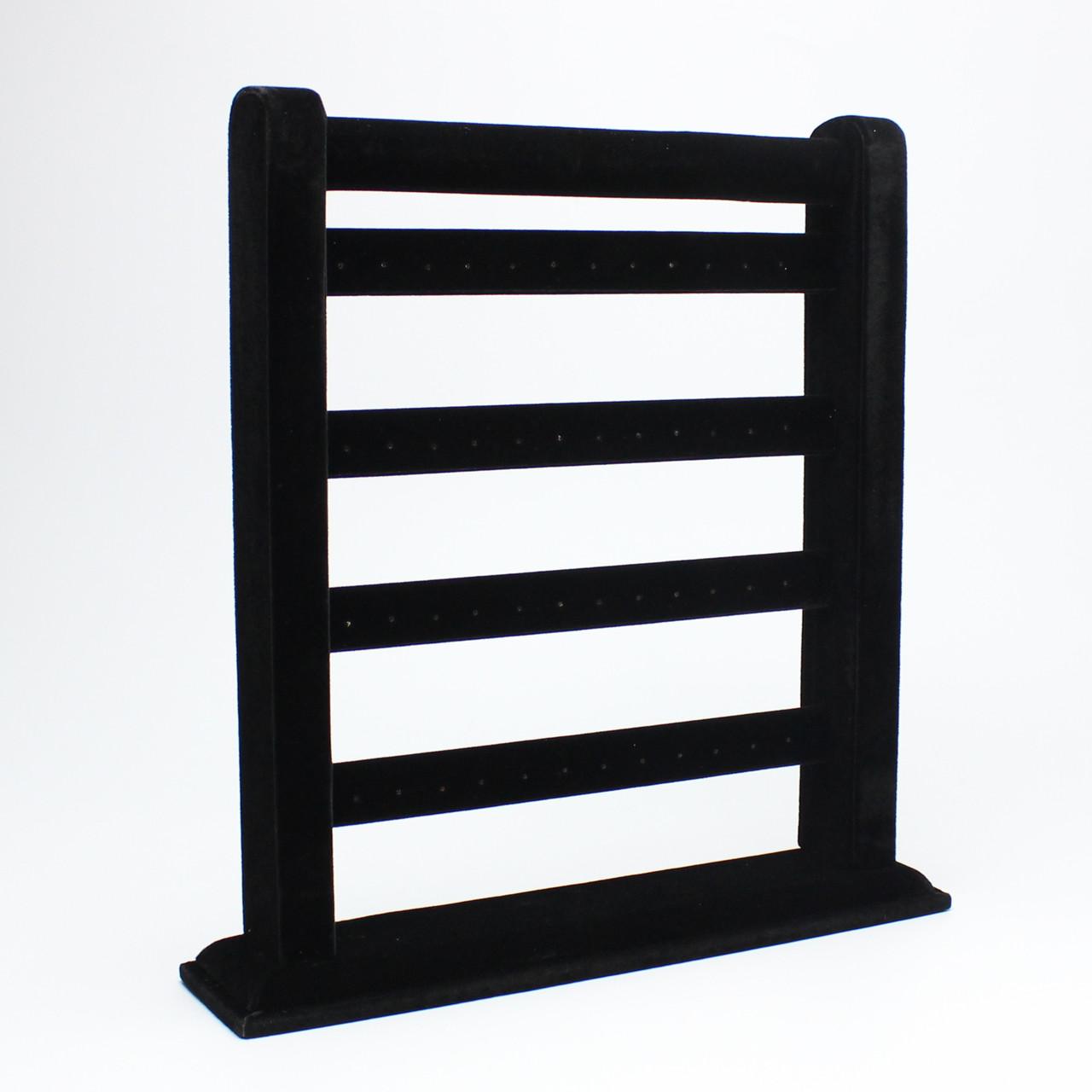 Подставка для серег черный бархат