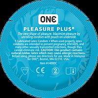 Презервативы ONE Pleasure Plus (ребристые, необычной формы)
