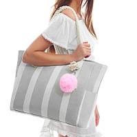 Пляжная дорожная сумка с помпоном