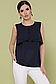 """Элегантная блузка без рукавов из креп-шифона р.42-46 """"Юлия"""", фото 3"""