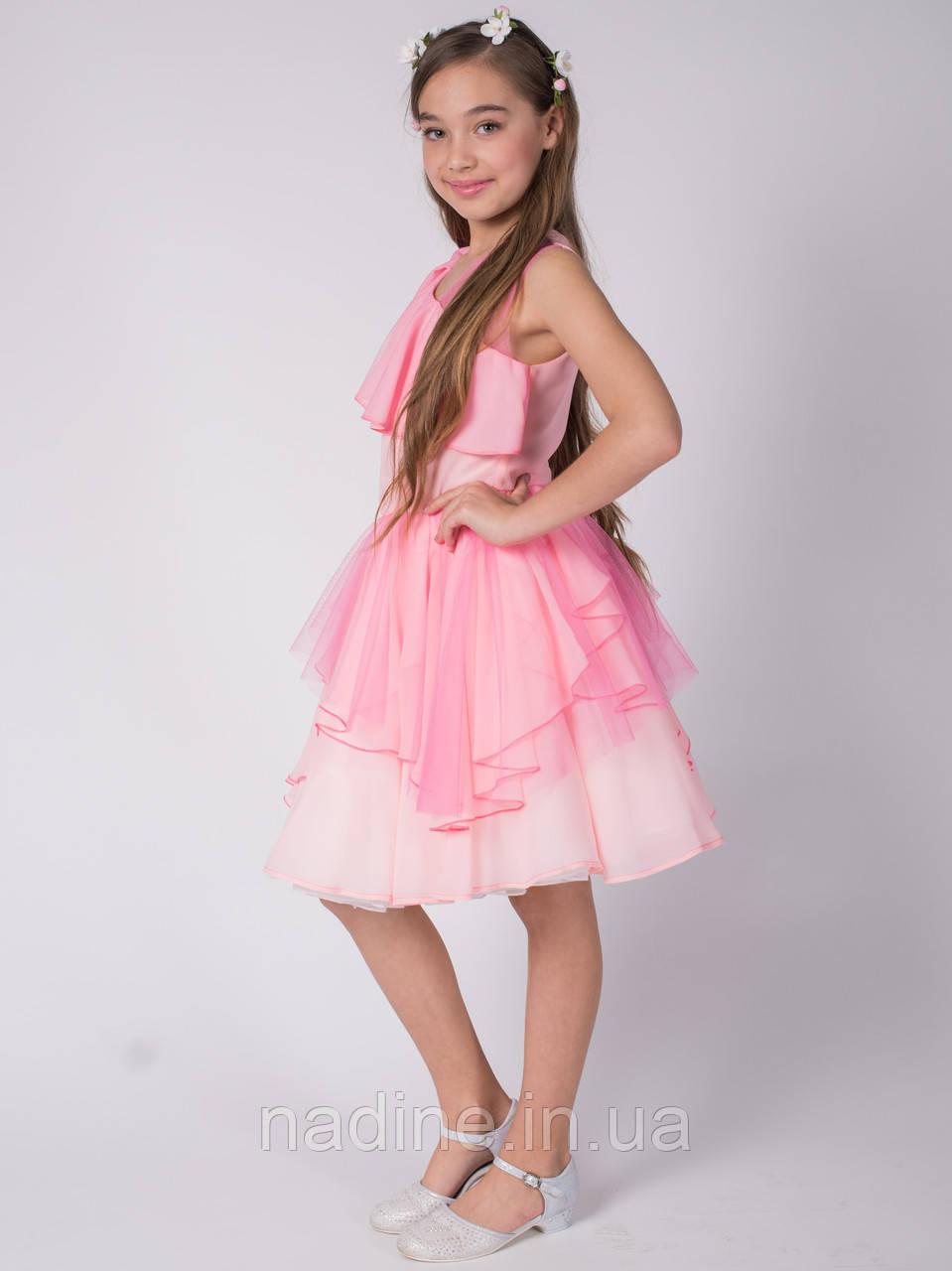 Шифоновое платье Romantic Sakura Eirena Nadine (131-40) на рост 140 Нежно розовое